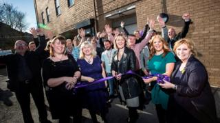 Councillors and staff open the centre