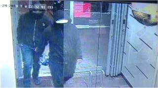 A still from CCTV footage shows the suspects of the explosion at Bombay Bhel restaurant in Mississauga, Ontario,