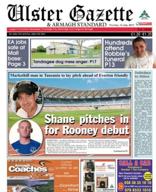 Ulster Gazette front page