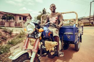 David, a delivery man in Kumasi