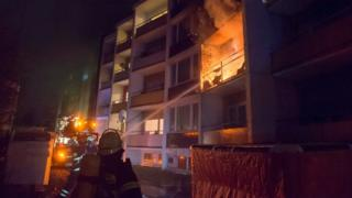 Fire at flats housing asylum seekers in Bad Homburg - February 2017