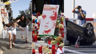Images of the terror attacks on Barcelona and nearby Cambrils in 2017