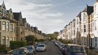 The incident happened at the family home in Claude Road, Cardiff