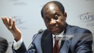"""Le ministre congolais de la justice Alexis Thambwe Mwamba a annoncé """"un accord qui doit être préalablement soumis à la plénière du dialogue """"."""