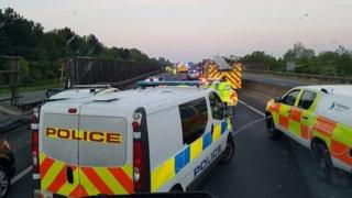 Scene of road crash