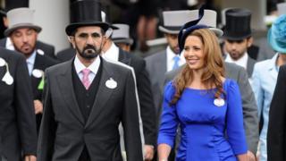 الشيخ محمد بن راشد وزوجته هيا بنت الحسين عام 2008
