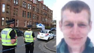 Crime scene and Stephen Gannon