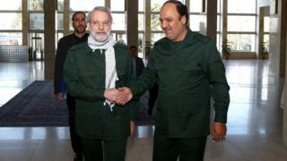 علی لاریجانی رئیس مجلس شورای اسلامی با لباس فرم سپاه پاسداران انقلاب اسلامی