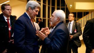 ظریف و کری در جریان مذاکرات هسته ای ایران و قدرتهای جهانی