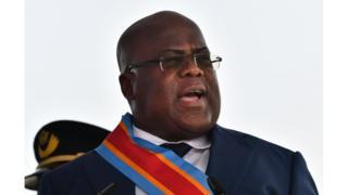 Rais wa DRC Felix Tchisekedi
