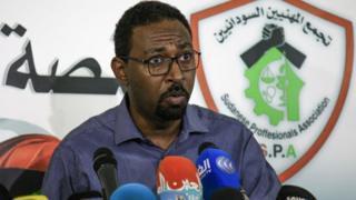 Amjad Farid, un porte-parole de l'Association des professionnels du Soudan, le mouvement à la pointe des manifestations antigouvernementales au Soudan