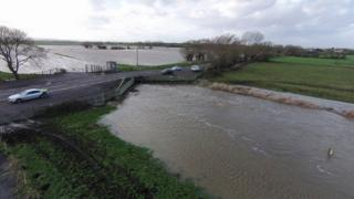 River Sowy at Beer Wall on A372