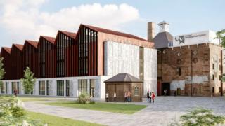 Artist impression of the new site