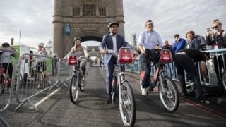 Sadiq Khan on bike
