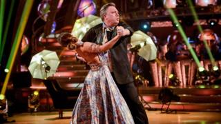Ed Balls and Katya Jones perform the tango