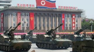 Tanques do exército - Coreia do Norte