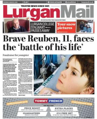 front page Lurgan Mail Thursday 8 March 2018