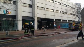 London Fire brigade at ITV studios