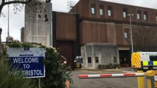 Five Bristol prison officers hurt in attack by inmate