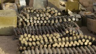 Quelques munitions saisies lors d'une précédente opération de l'armée algérienne