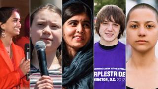 Amika George, Greta Thunberg, Malala Yousafzai, Jack Andraka y Emma González.