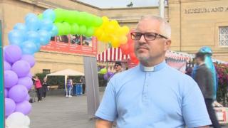 Rev Scott Burton at Pride