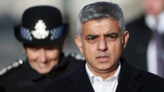 Mayor of London Sadiq Khan and London police chief commissioner Cressida Dick
