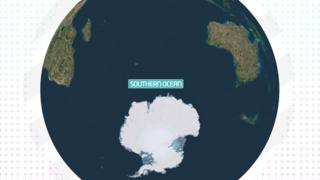 Image shows Earth with the Southern Ocean labelled