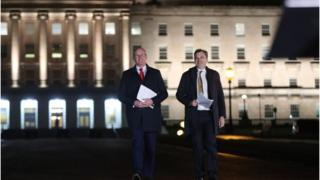 Simon Coveney and Julian Smith held a joint media conference on Thursday night