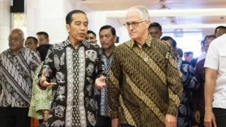 Joko Widodo and Malcolm Turnbull meet in Bali last week