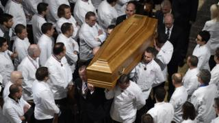 Funeral de Bocuse en la catedral de Lyon.