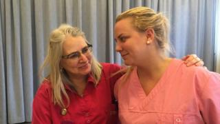 Emilie Telander (r) and work colleague Carina Dahl