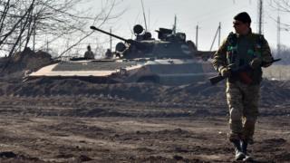 Ukrainian army near Donetsk, 11 Mar 15