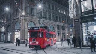 Гельсінкі в снігу