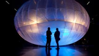 """""""气球网络计划""""已将气球应用于救灾行动。"""