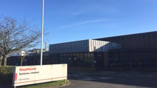 Raytheon UK facility in Glenrothes, Fife