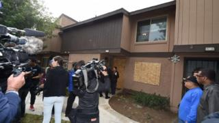 The home of San Bernardino mass murder suspect Syed Farook, 4 December 2015 in Redlands, California