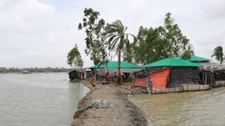 The village is built on salty mud. Often the water gets into their home and the families must live in wet, damp conditions. This is particularly bad in monsoon season when the rains come and the water levels rise even more.
