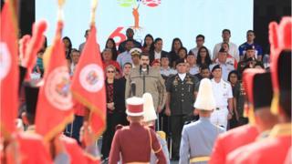 Nicolás Maduro durante el acto de conmemoración del sexto aniversario de la muerte de Hugo Chávez