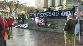 Guildhall Square protest