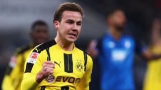 Mario Gotze a wasan Borussia Dortmund