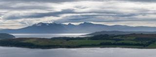 Lovely view of Arran and Cumbrae from Castle Hill in Largs last Sunday. Well worth the climb. David Hamilton, Milngavie