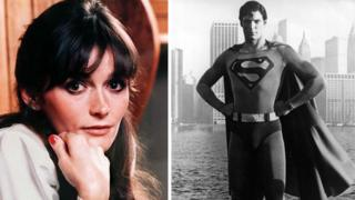 Margot Kidder as Lois Lane and Christopher Reeve as Superman