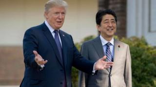 ผู้นำสหรัฐฯและผู้นำญี่ปุ่นมีกำหนดจะออกรอบตีกอล์ฟร่วมกัน