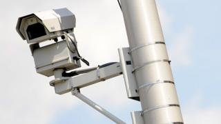 US police surveillance camera in Newark, NJ (file pic)