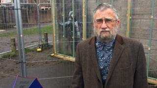 John Brandler at the Banksy in Port Talbot