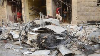 Destruction in Aleppo, July 2016