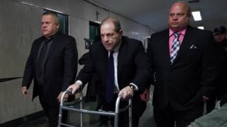 Weinstein used a walker at a court appearance last week