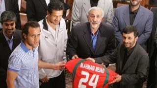علی دایی و احمدی نژاد