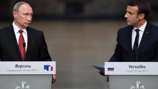 Франциянын президенти Эммануэль Макрон орусиялык кесиптеши Владимир Путин